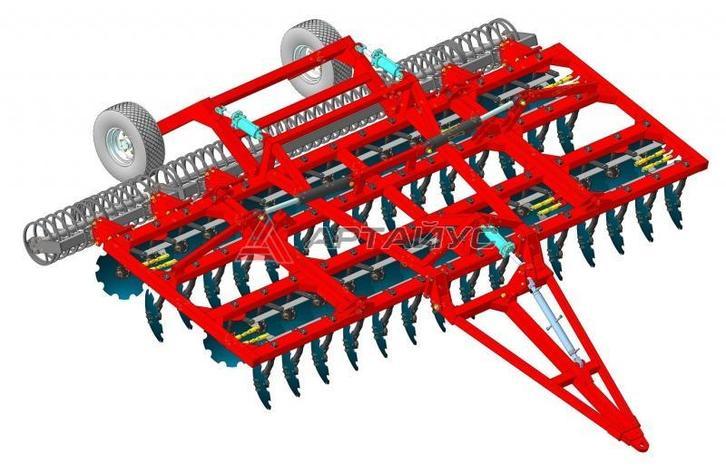 Борона дисковая БДМ 6м ПК четырехрядная, прицепная, фото 2