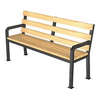 Уличная скамейка со спинкой