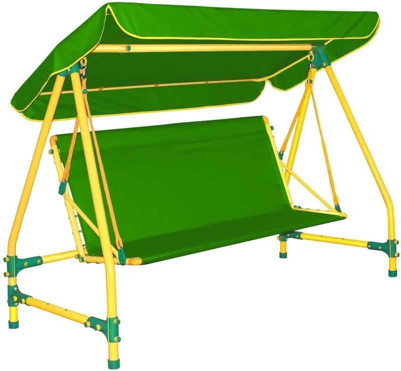 Качели дачные четырехместные Leco-IT 400 Green