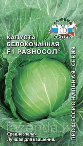 Капуста б/к Разносол F1 30шт/0,25-0,3гр