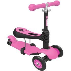 Самокат Scooter трехколесный 3 в 1 розовый