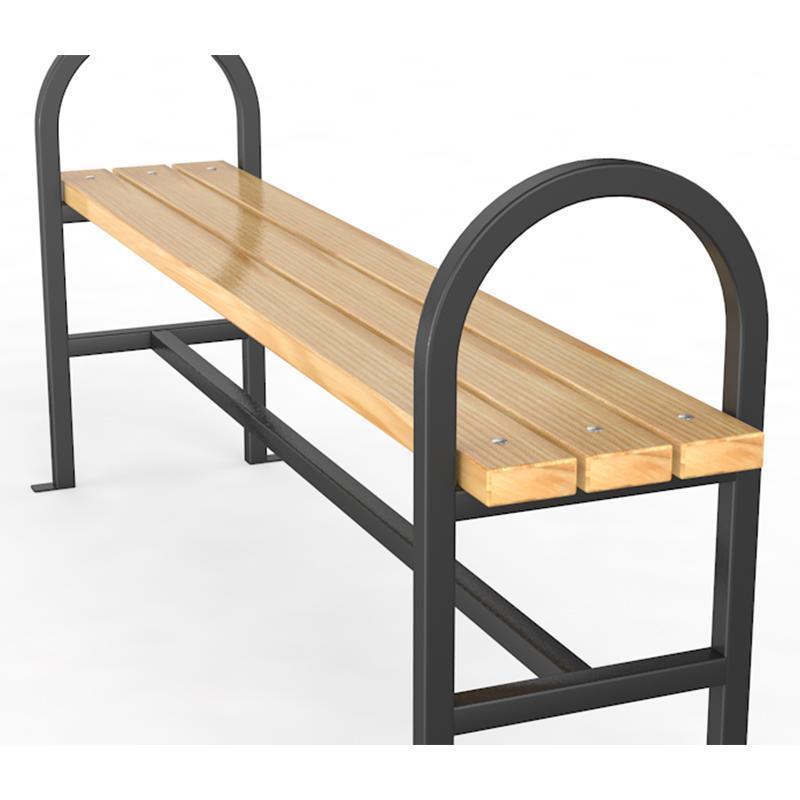 Уличная скамейка без спинки №2