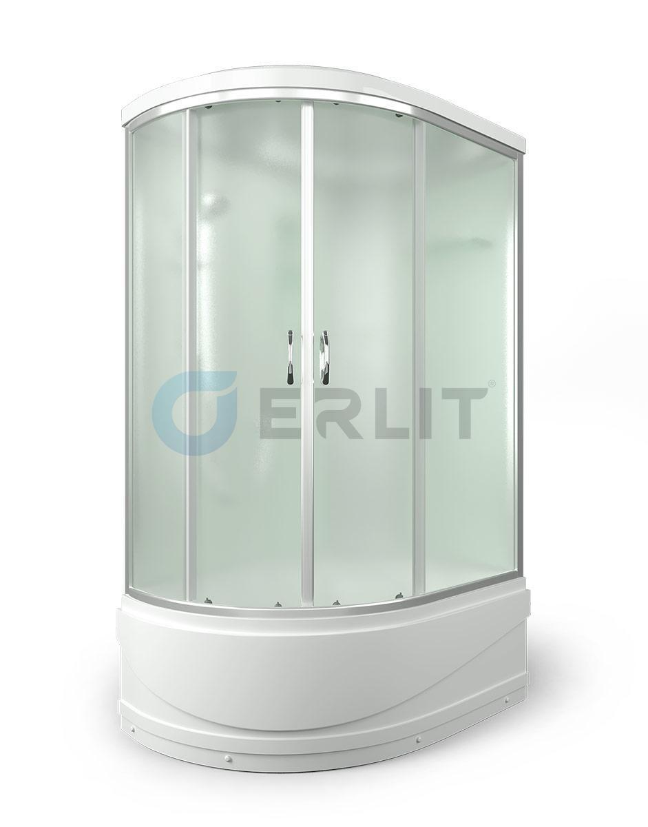 Душевая кабина ERLIT ER3512TPR-C3  высокий поддон, матовое стекло