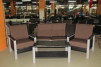 Стол + диван + 2 кресла