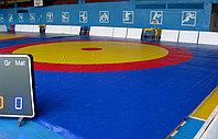 Ковер борцовский трехцветный 12х12м с покрышкой, толщина 4 см, фото 1