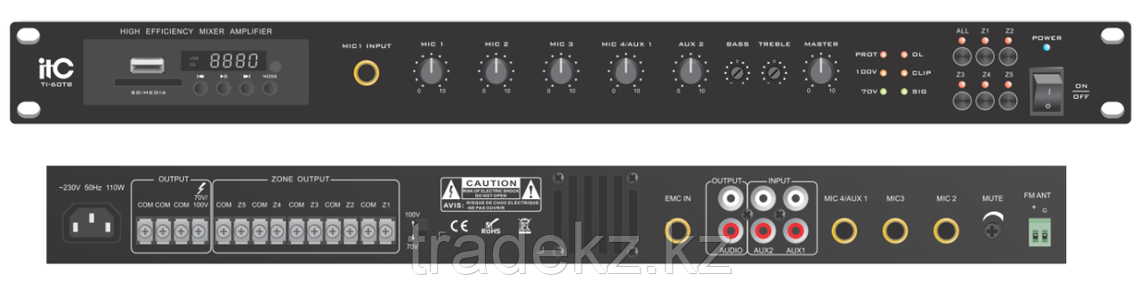 ITC Audio TI-120TB - 5-ти зональный микширующий усилитель 120Вт