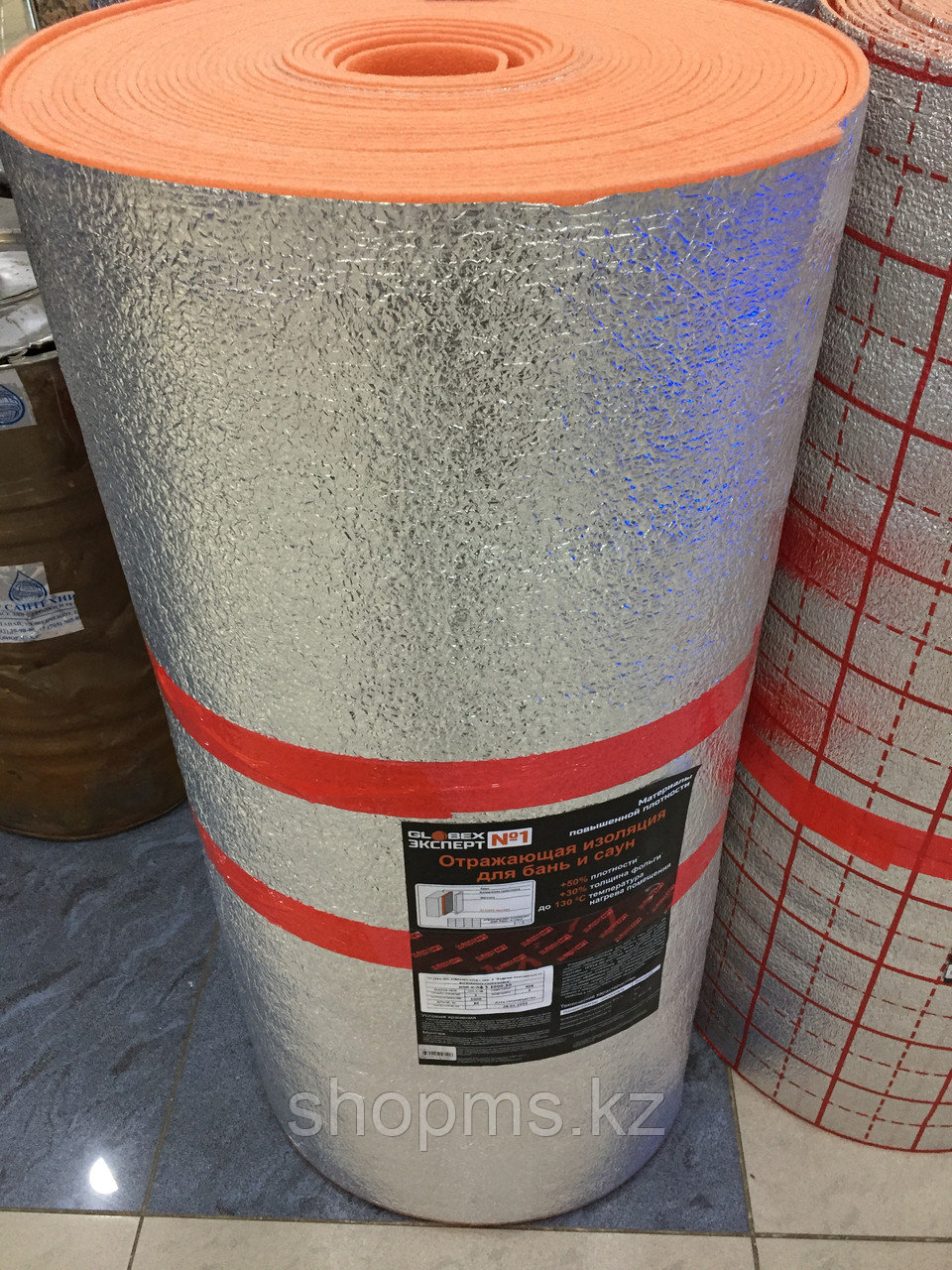 Отражающая изоляция для бань и саун Globex НПП-К-ЛФ 5мм*1000*30м Оранжевая ЭКСПЕРТ