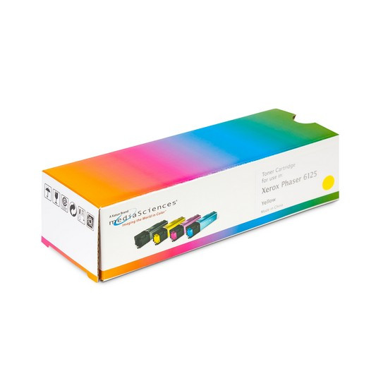 Тонер-картридж, Katun, Для принтеров Xerox Phaser 6125, Жёлтый, 1000 страниц.