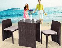 Набор мебели, стол+2стула, искусственный ротанг, фото 1