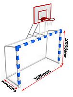 Баскетбольный щит (фанера) с воротами