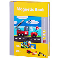 """Magnetic Book TAV035 Развивающая игра """"Юный инженер"""", 68 деталей"""