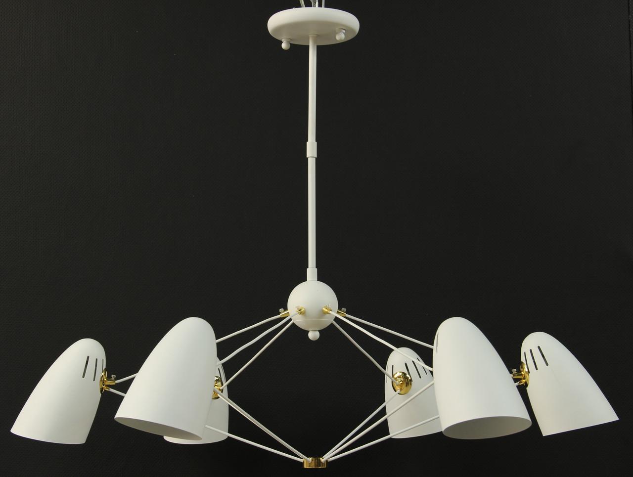 LOFT Люстра белая на 6 ламп