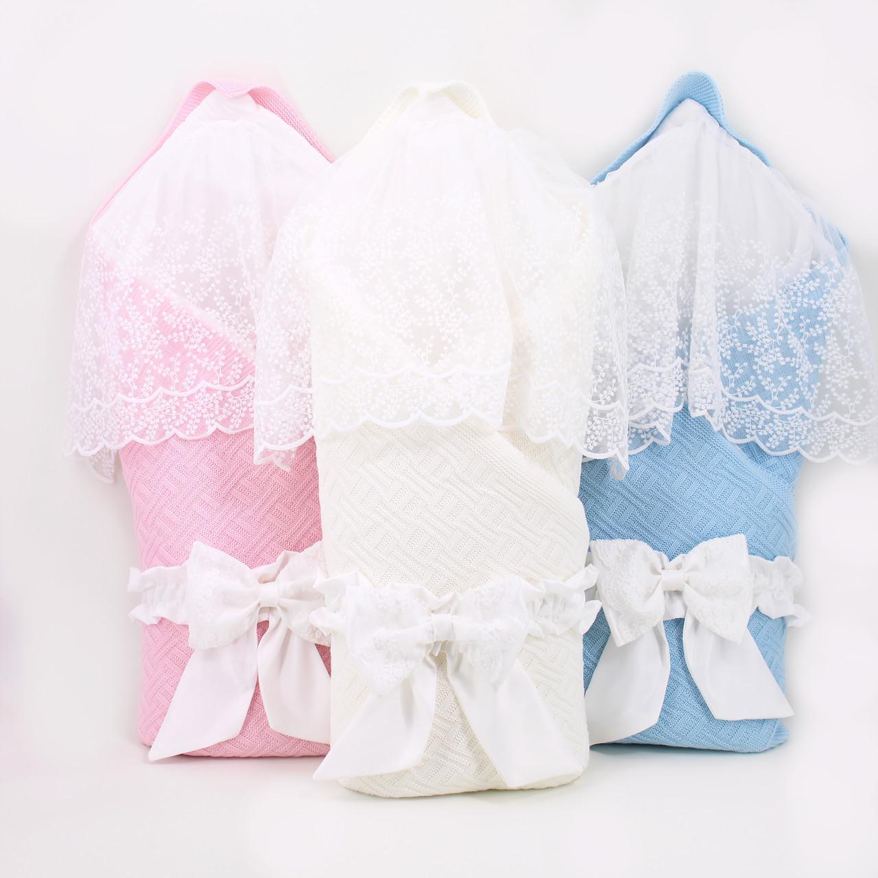 """Конверт-одеяло на выписку """"Рельеф"""" розовый"""