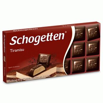 Молочный шоколад Schogetten Тирамису 100гр (15 шт. в упаковке))