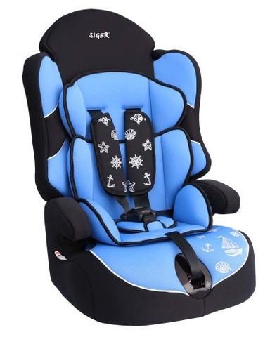 """Детское автомобильное кресло SIGER """"ДРАЙВ"""", голубой, 1-12 лет, 9-36 кг"""