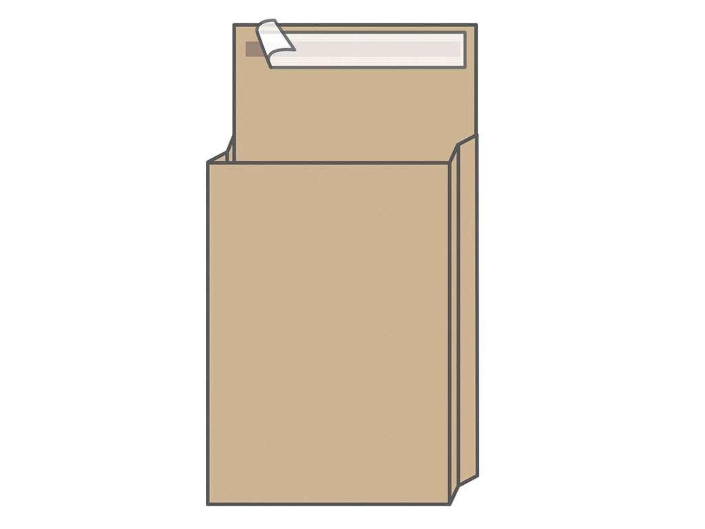 Конверт С3 UltraPac (300х400х40 мм) пакет 120 гр, с расширением, коричневый, удаляемая лента