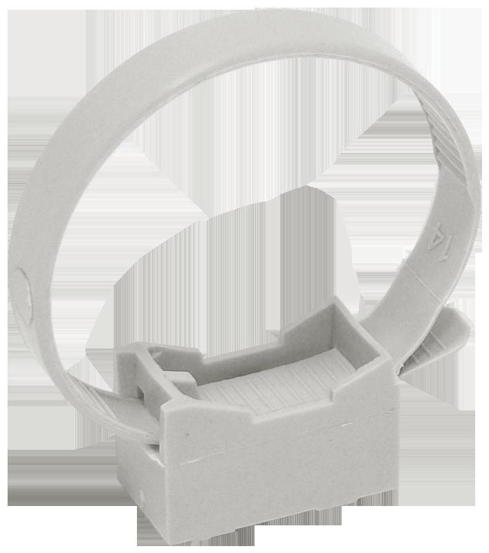 Хомутный держатель со стяжкой серый CFF2 32-63 мм IEK