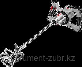 Миксер ЗУБР МР-1600-2 строительный, 2-скоростной, 1600 Вт, 26.7 Нм, 0-390 / 0-550 об/мин, М14 патрон,
