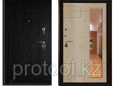 Дверь ДИПЛОМАТ-2066/880/980/104 L/R абстракция2 орех премиум/абстракция3 ясень горный