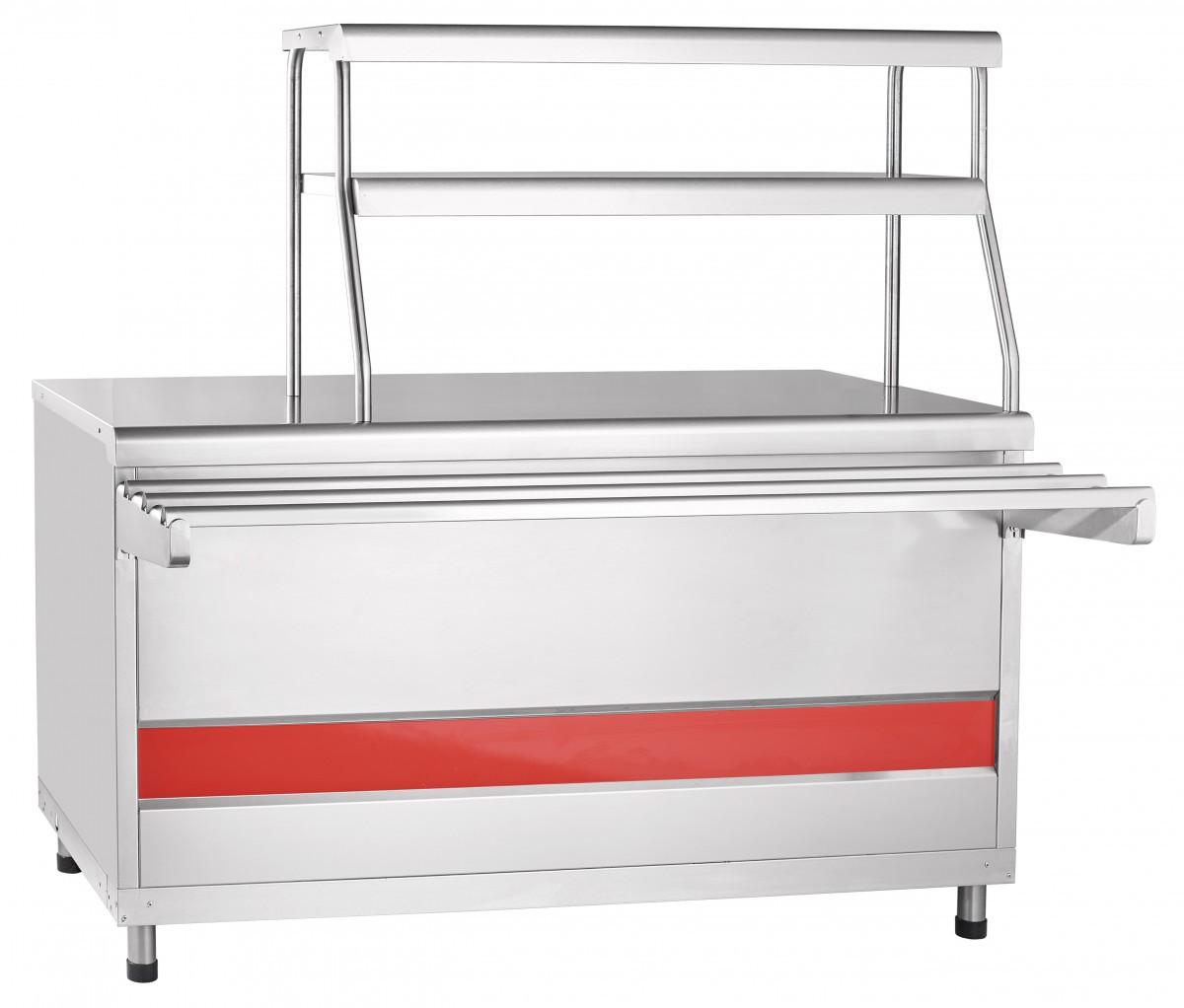 Прилавок для горячих напитков ПГН-70КМ-01 нейтральный стол (Линии раздачи для столовых)