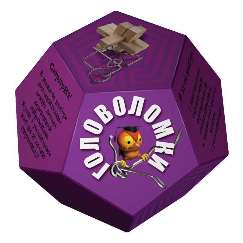"""Набор головоломок """"Додекаэдр"""", фиолетовый"""