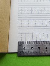 Тетрадь для написания иероглифов. Клетка 11 мм с пунктиром и расширенным полем для пиньинь. 2156 клеток