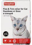 Beaphar Ошейник от блох и клещей для кошек черный на 6 мес, фото 1