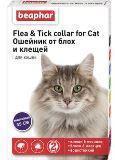 Beaphar Ошейник от блох и клещей для кошек цветной на 6 мес