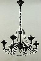 Классическая люстра на 6 рожков Черная , фото 1