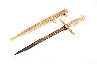 Нож из дамасской стали ручной работы Адмиральский - Купить в Казахстане