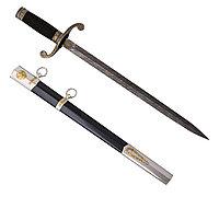 Нож из дамасской стали ручной работы кортик - Купить в Казахстане