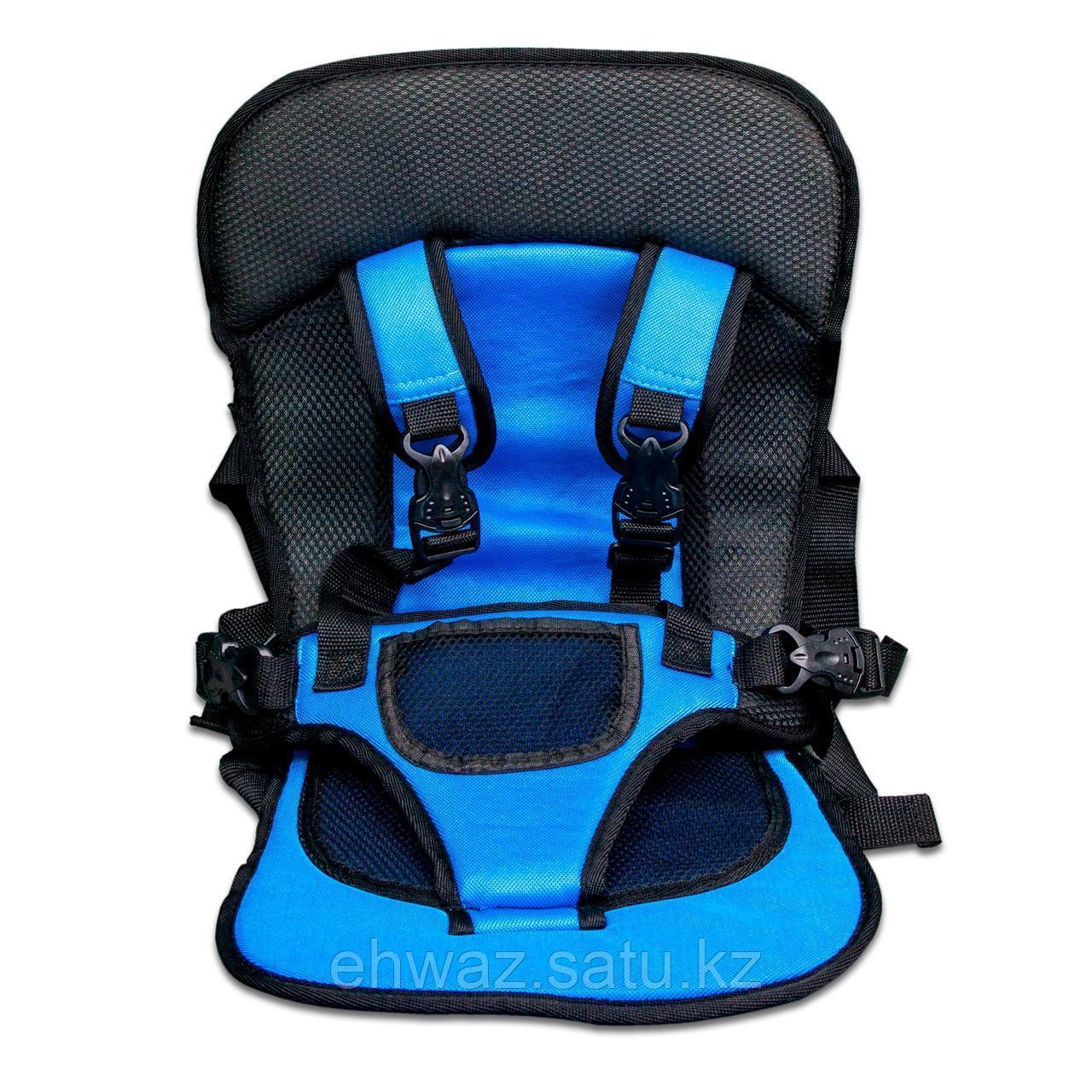 Бескаркасное автокресло для детей, цвет голубой