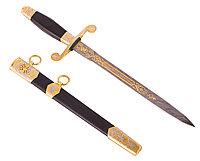 Нож из дамасской стали ручной работы Офицерский - Купить в Казахстане