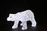 """Акриловая световая фигура """"Белый медведь"""" 40*55см, 60*110см, 70*125см, фото 1"""