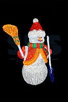 """""""Снеговик"""" из акрила с подсветкой светодиодами, высота 170/125см"""