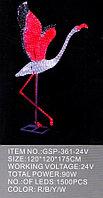 """Светодиодная фигура """"Фламинго-4"""" 120X120X175см  в алматы"""