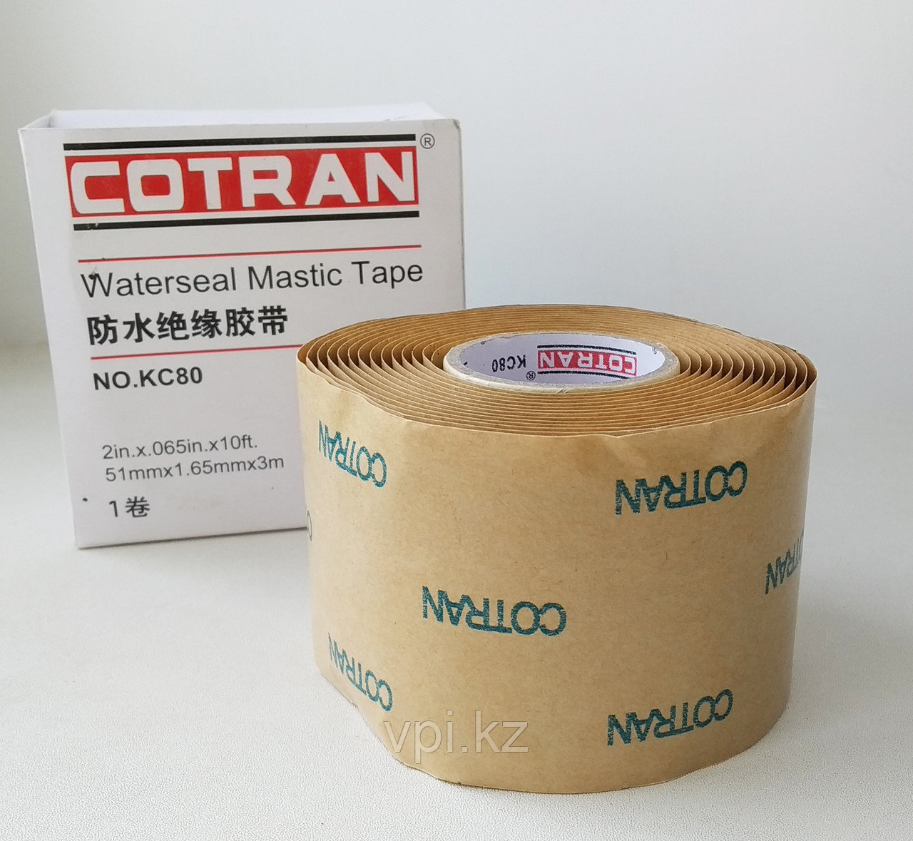 Изолента  резиново-мастичная 51мм*1.65мм*3м, COTRAN KC80