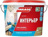 Краска для стен и потолков на акриловой основе, стойкая к влажной уборке Parade W3 (10 л)