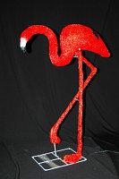 """Светодиодная фигура """"Фламинго-2"""" 95X78см  в алматы"""
