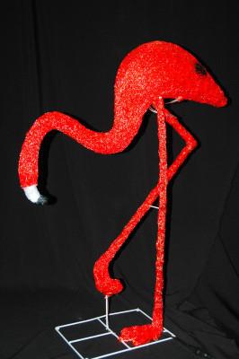 """Светодиодная фигура """"Фламинго-3"""" 95X78см  в алматы"""