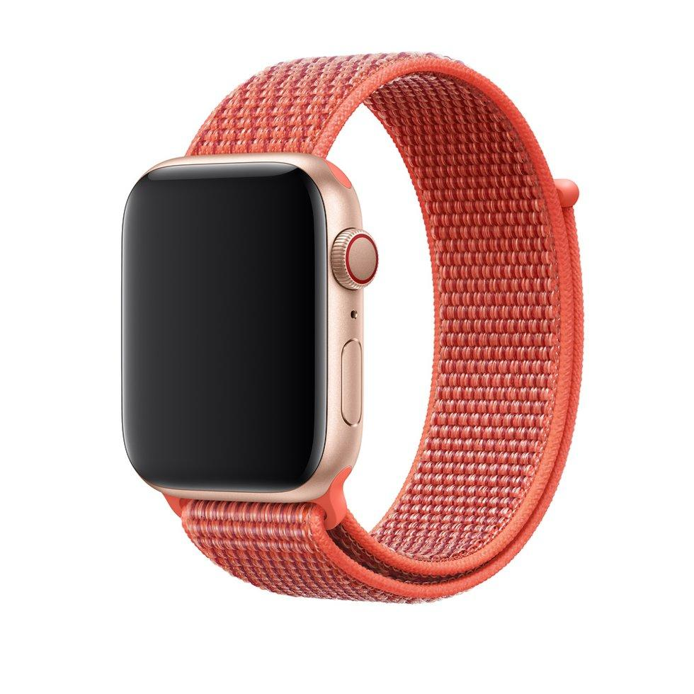 Оригинальный браслет/ремешок для Apple Watch 40мм, спортивный, «спелый нектарин» (MTLW2ZM/A)