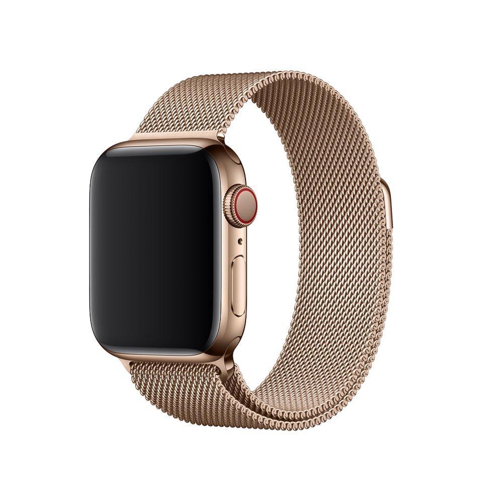 Оригинальный браслет/ремешок для Apple Watch 44мм, миланский сетчатый, золотистый (MTU72ZM/A)
