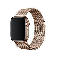 Оригинальный браслет/ремешок для Apple Watch 44мм, миланский сетчатый, золотистый (MTU72ZM/A), фото 1
