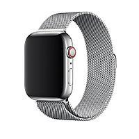 Браслет/ремешок для Apple Watch 44мм, миланский сетчатый, серебристый (MTU62ZM/A), фото 1
