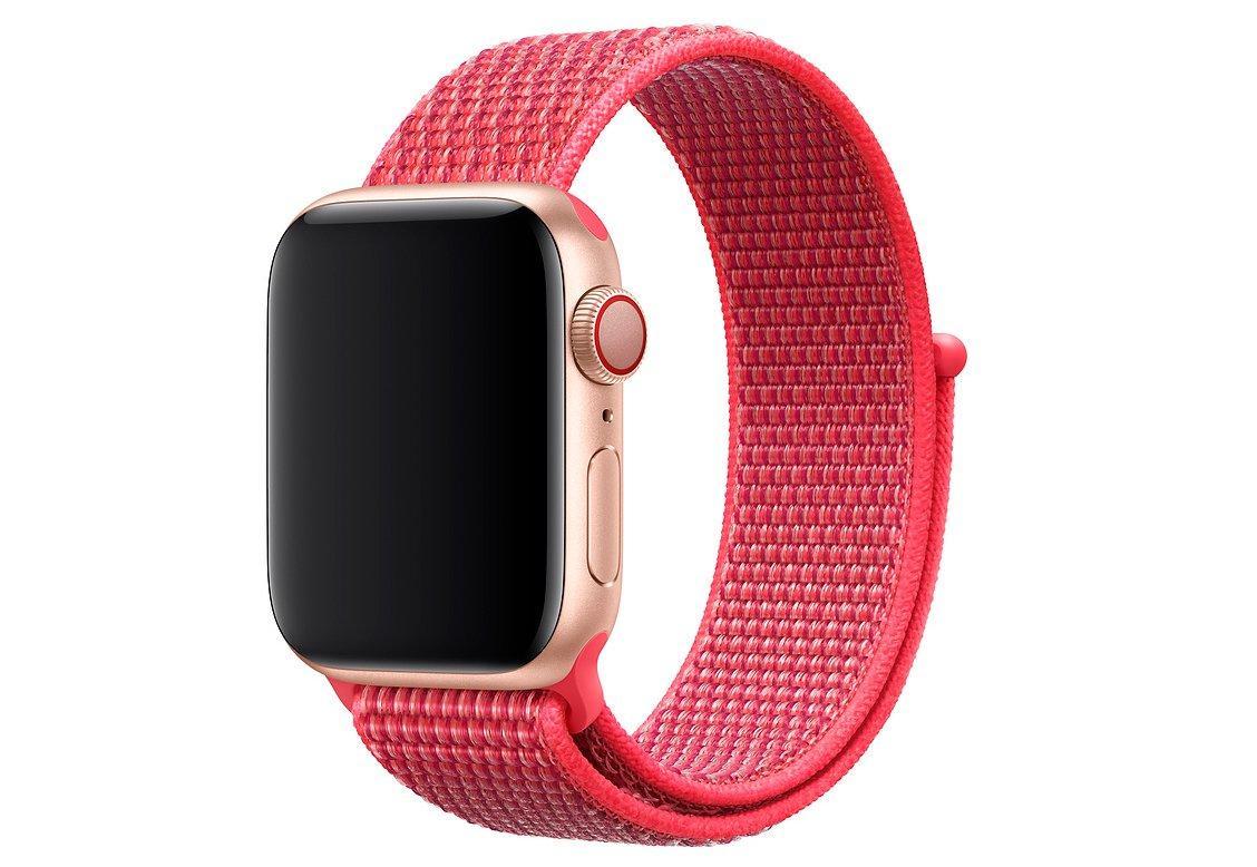 Браслет/ремешок для Apple Watch 44мм, спортивный, «красный каркаде» (MTMF2ZM/A)
