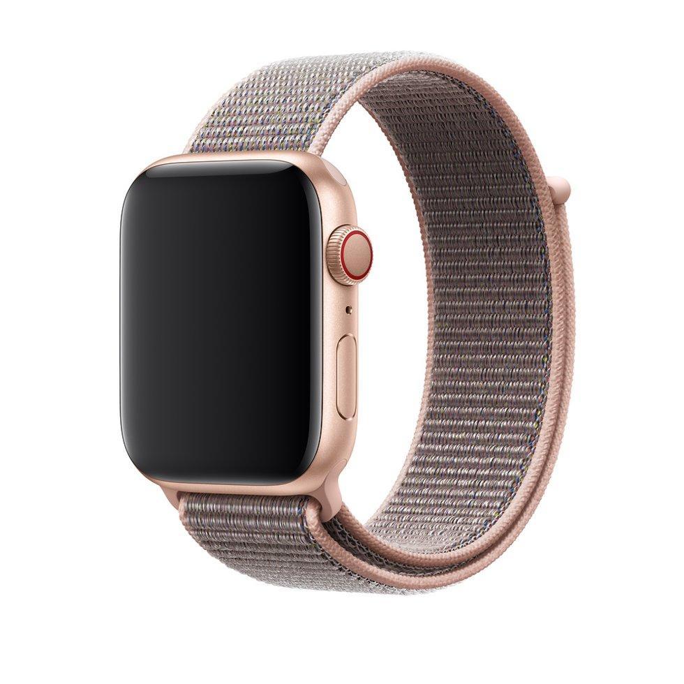 Браслет/ремешок для Apple Watch 44мм, спортивный, «розовый песок» (MTM92ZM/A)