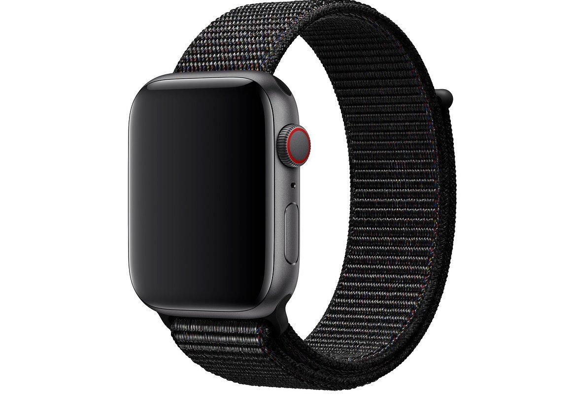Оригинальный браслет/ремешок для Apple Watch 44мм, спортивный, размер Regular, чёрный (MTM72ZM/A)
