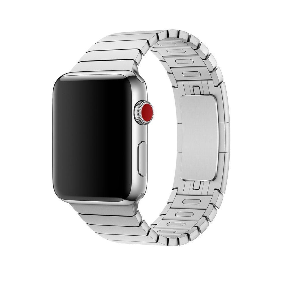 Браслет/ремешок для Apple Watch 38мм, блочный серебристый (MJ5G2ZM/A)