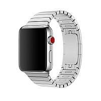 Браслет/ремешок для Apple Watch 38мм, блочный серебристый (MJ5G2ZM/A), фото 1