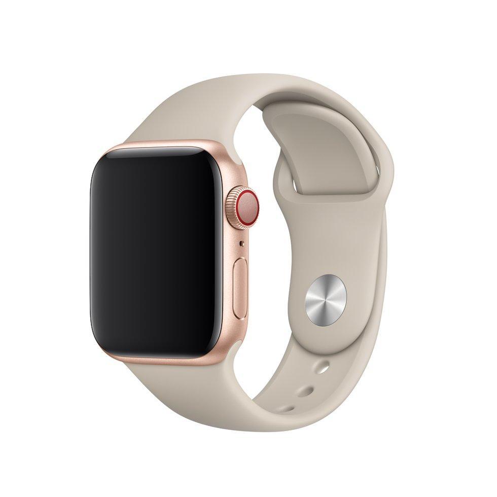 Браслет/ремешок для Apple Watch 40мм, размеры S/M и M/L, спортивный, бежевый (MTP82ZM/A)